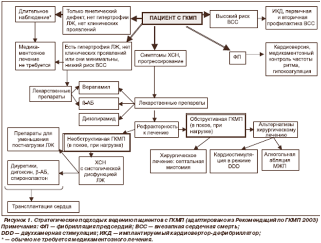 Рисунок 1. Стратегические подходы к ведению пациентов