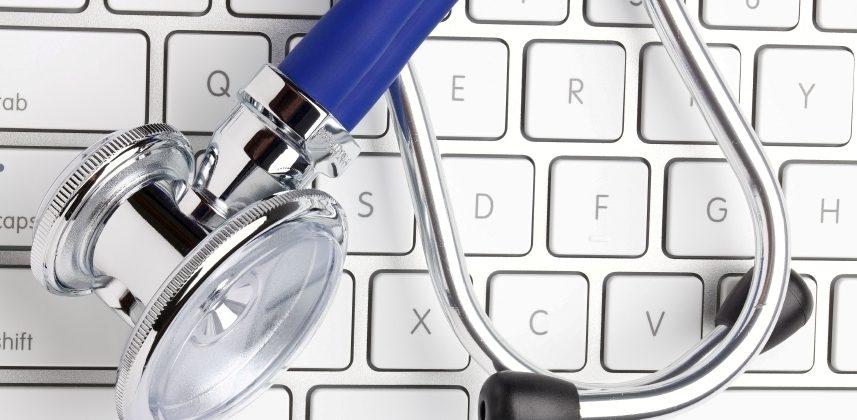стетофонендоскоп на клавиатуре, медпросвіта